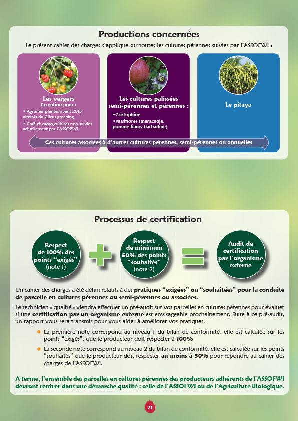 Brochure : registre annuel Assofwi agriculture raisonnée