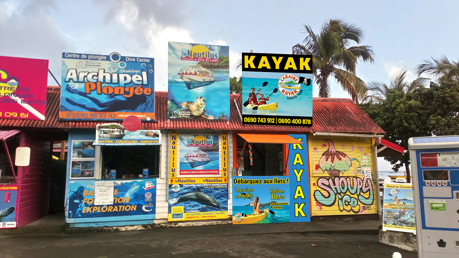 Habillage boutique Caraïbe Kayak