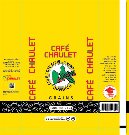 Café Chaulet : maquette du café en grains