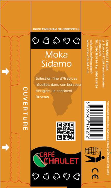 Café Chaulet : maquette capsules Sidamo 2