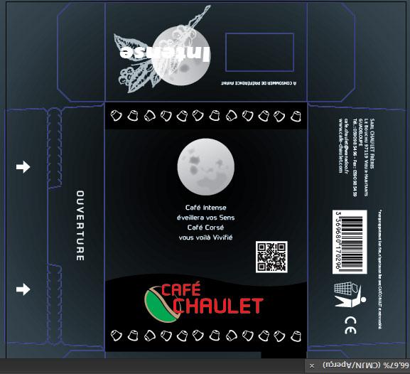 Café Chaulet : maquette capsules Intense 2
