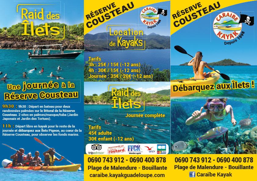 Dépliants 3 volets Caraïbe Kayak