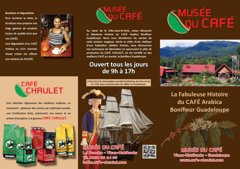 Café Chaulet : dépliant Musée du Café
