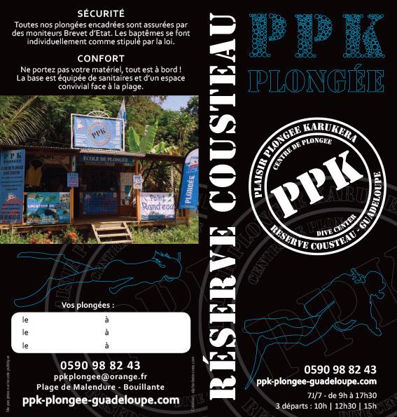 PPK Plongée : flyer extérieur